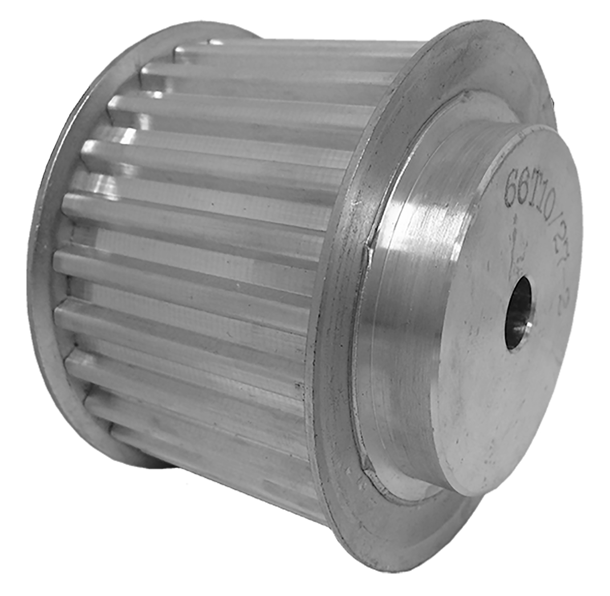 66T10/27-2 - Aluminum Metric Pulleys